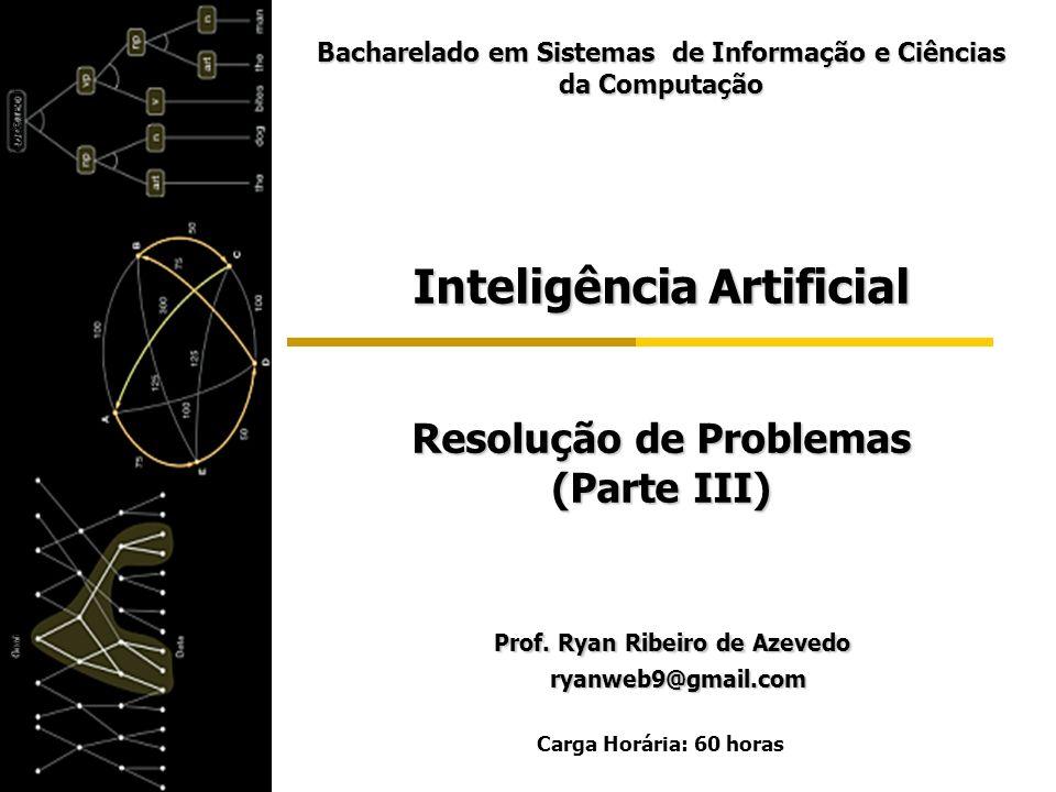 Inteligência Artificial Resolução de Problemas (Parte III) Prof. Ryan Ribeiro de Azevedo Prof. Ryan Ribeiro de Azevedo ryanweb9@gmail.com ryanweb9@gma