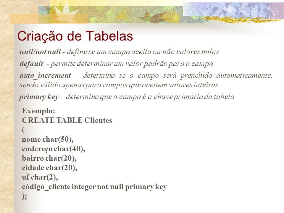 Para criar uma tabela devemos clicar no ícone Interactive SQL e escrever o código SQL correspondente para criação de tabela. A criação de tabelas em S