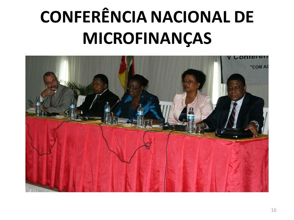 CONFERÊNCIA NACIONAL DE MICROFINANÇAS 16