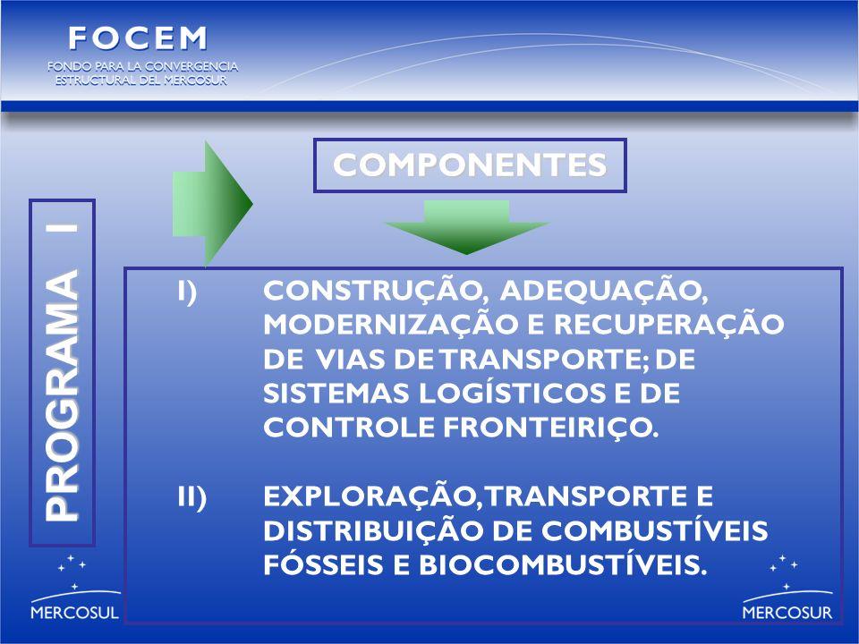 PROGRAMA I I)CONSTRUÇÃO, ADEQUAÇÃO, MODERNIZAÇÃO E RECUPERAÇÃO DE VIAS DE TRANSPORTE; DE SISTEMAS LOGÍSTICOS E DE CONTROLE FRONTEIRIÇO.