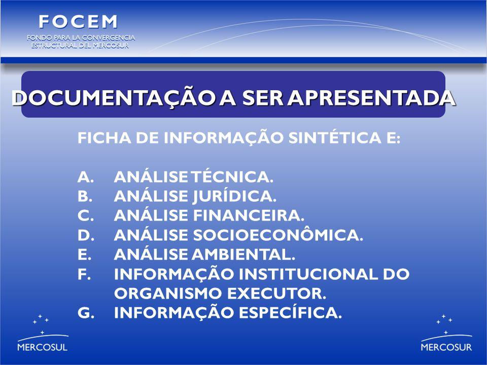 FICHA DE INFORMAÇÃO SINTÉTICA E: A.ANÁLISE TÉCNICA.