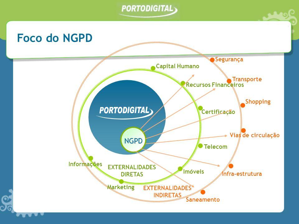 NGPD EXTERNALIDADES DIRETAS EXTERNALIDADES INDIRETAS Capital Humano Recursos Financeiros Certificação Telecom Imóveis SaneamentoInfra-estrutura Vias d