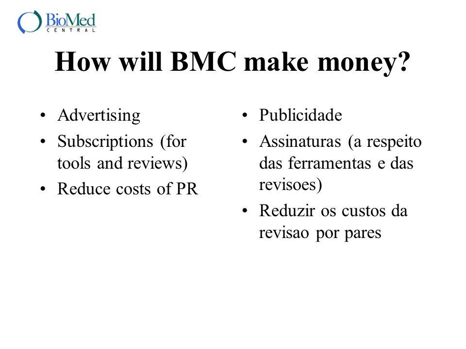 How will BMC make money.