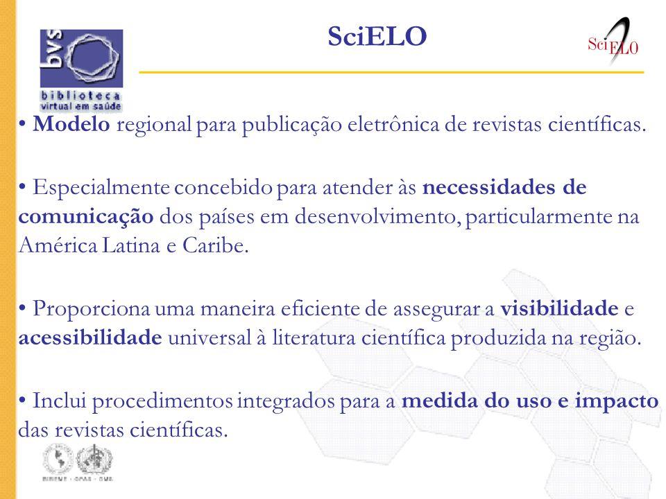 SciELO Modelo regional para publicação eletrônica de revistas científicas. Especialmente concebido para atender às necessidades de comunicação dos paí