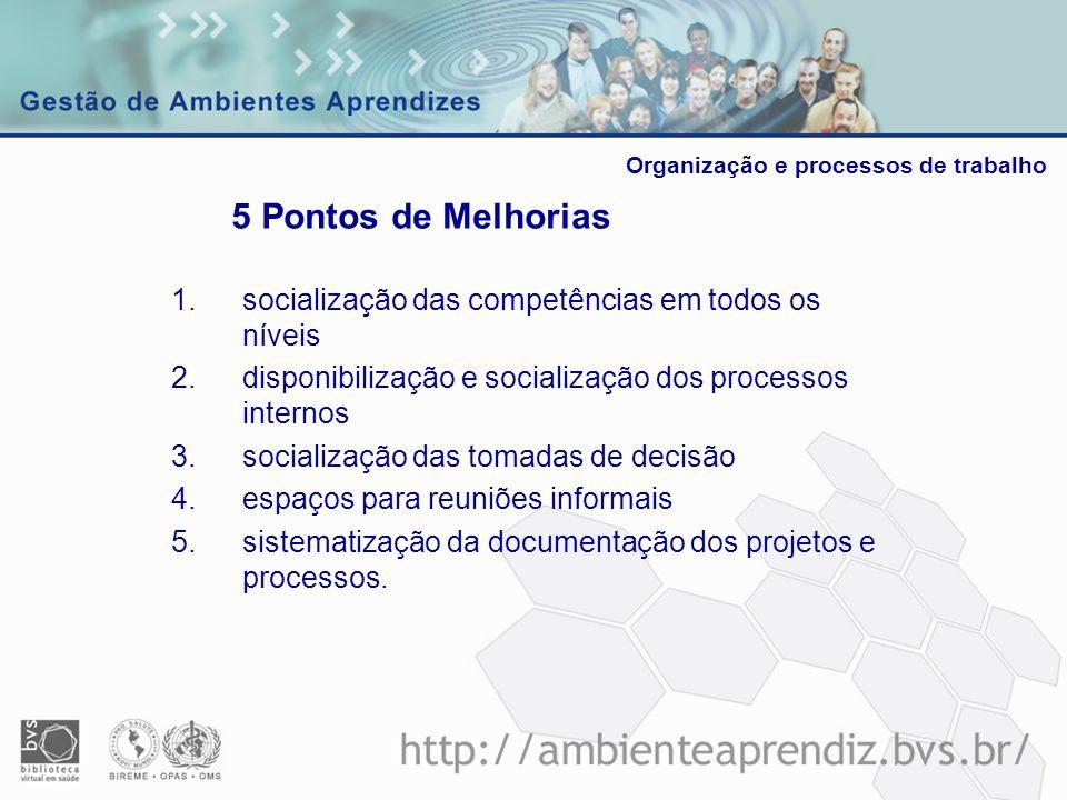1.socialização das competências em todos os níveis 2.disponibilização e socialização dos processos internos 3.socialização das tomadas de decisão 4.es