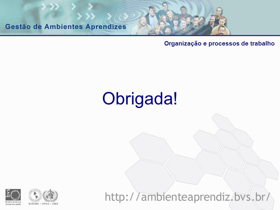 Organização e processos de trabalho Obrigada!