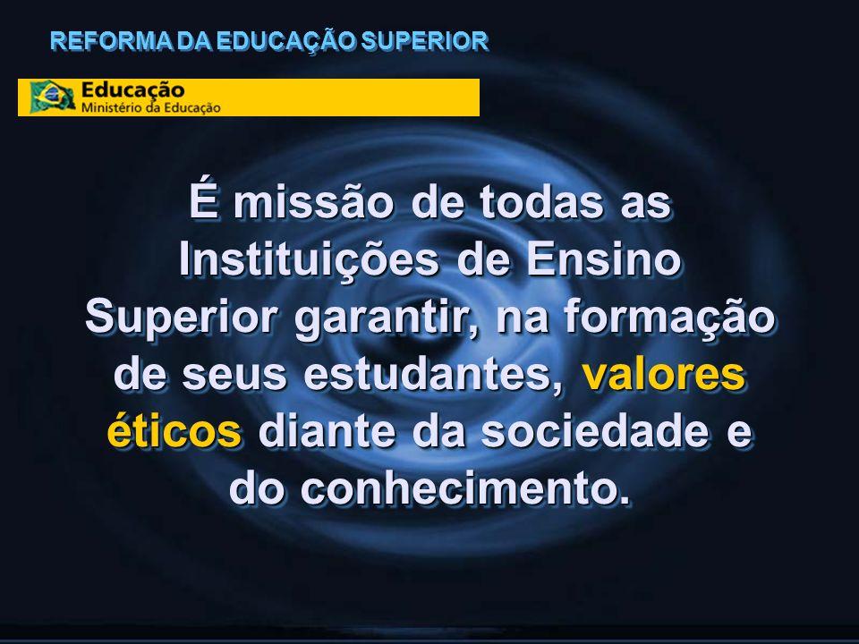 É missão de todas as Instituições de Ensino Superior garantir, na formação de seus estudantes, valores éticos diante da sociedade e do conhecimento. R