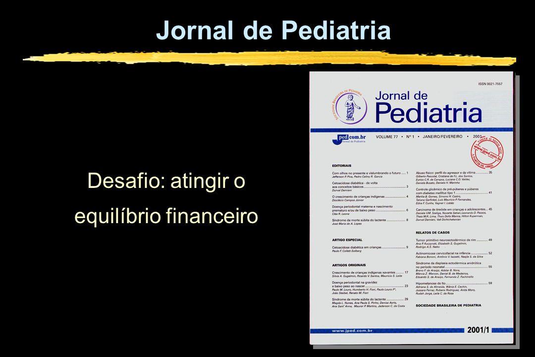 Jornal de Pediatria Desafio: atingir o equilíbrio financeiro