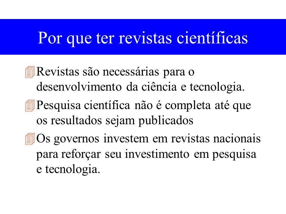 Financiamento de revistas científicas Page charges Braz.