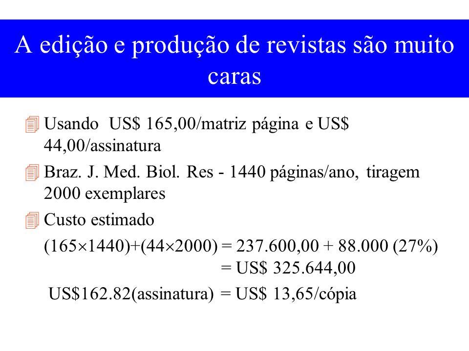 Fontes de financiamento do Brazilian Journal of Medical and Biological Research hoje CNPq Page charges (autores) Assinantes Sociedades ou instituições Universidades, faculdades, departamentos Propaganda?