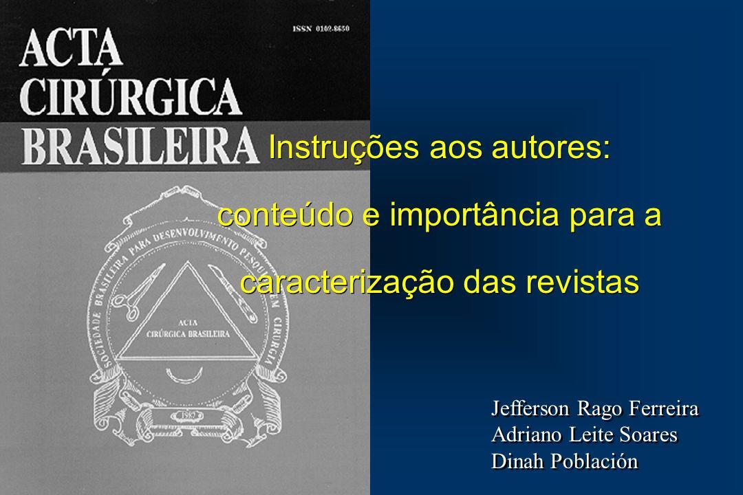 INTRODUÇÃO - Comitê Internacional de Editores de Revistas Médicas - Associação Brasileira de Editores Científicos - 1995 - GOLDENBERG e col.