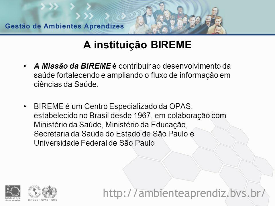 Diretor BIREME PMI – Projetos, Marketing e Inovação GAP – Avaliação e Pesquisa.