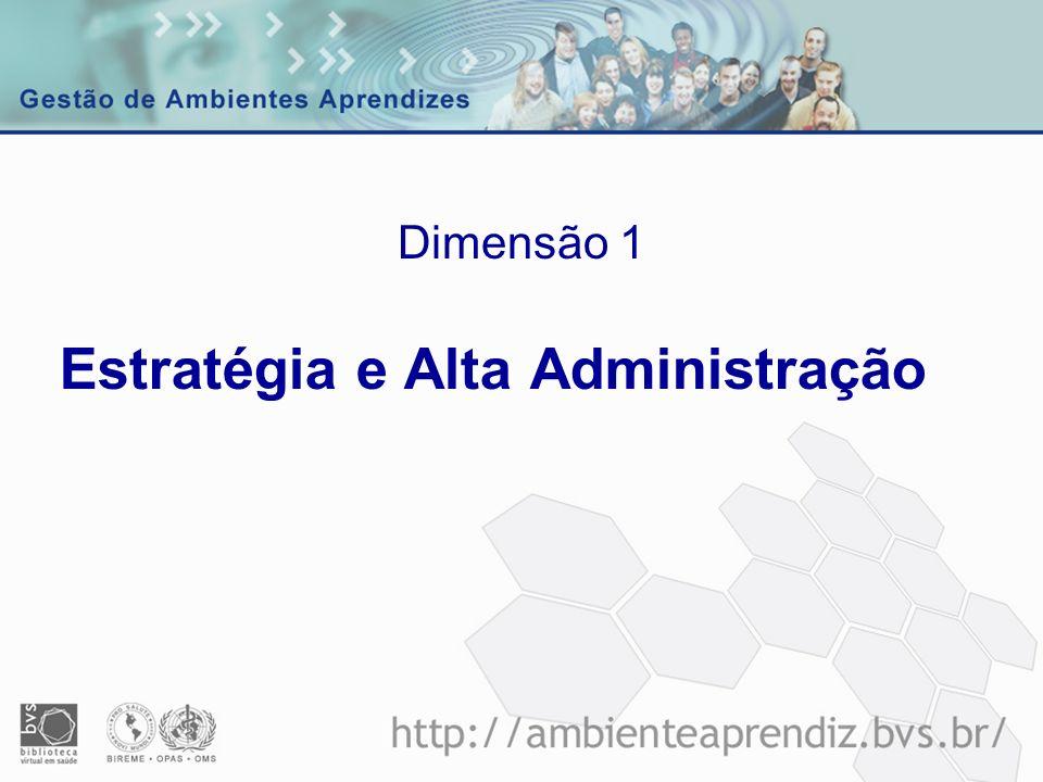 Estratégia e Alta Administração Dimensão 1