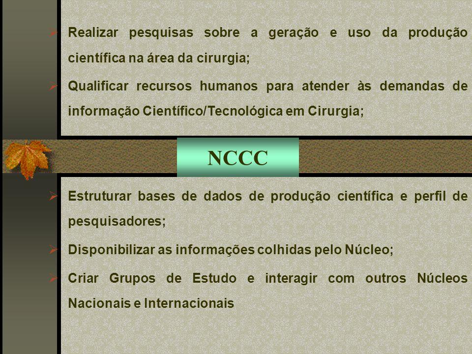 I e II REUNIÃO DOS EDITORES DE REVISTAS MÉDICAS PUBLICADORAS DE CONTRIBUIÇÕES CLÍNICO-CIRÚRGICAS (abril e outubro de 2003) Publicações: Acta Cir Bras e Rev Bras Cir Cardiovasc NCCC