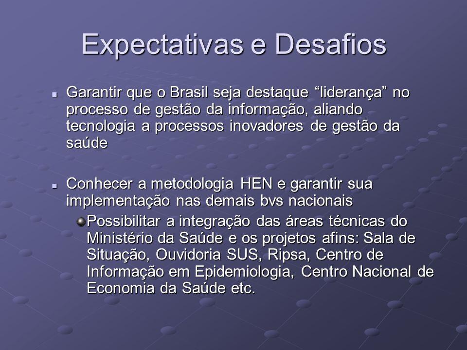 Expectativas e Desafios Garantir que o Brasil seja destaque liderança no processo de gestão da informação, aliando tecnologia a processos inovadores d