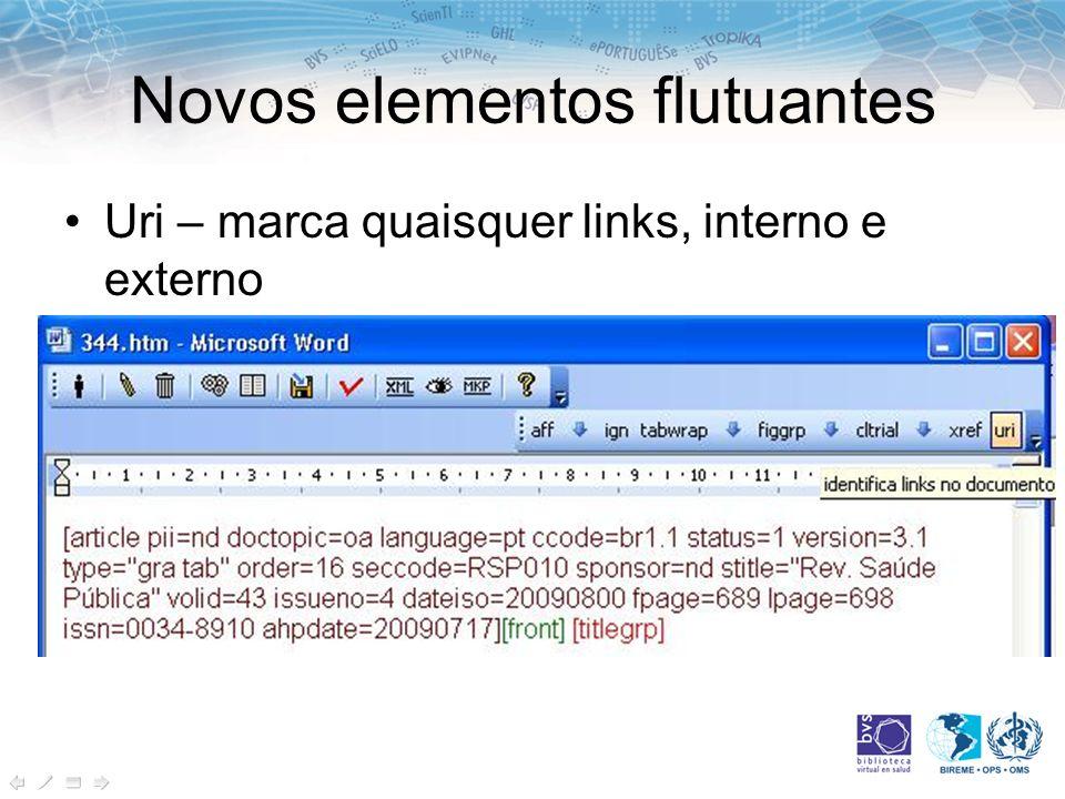 Novos elementos flutuantes Uri – marca quaisquer links, interno e externo