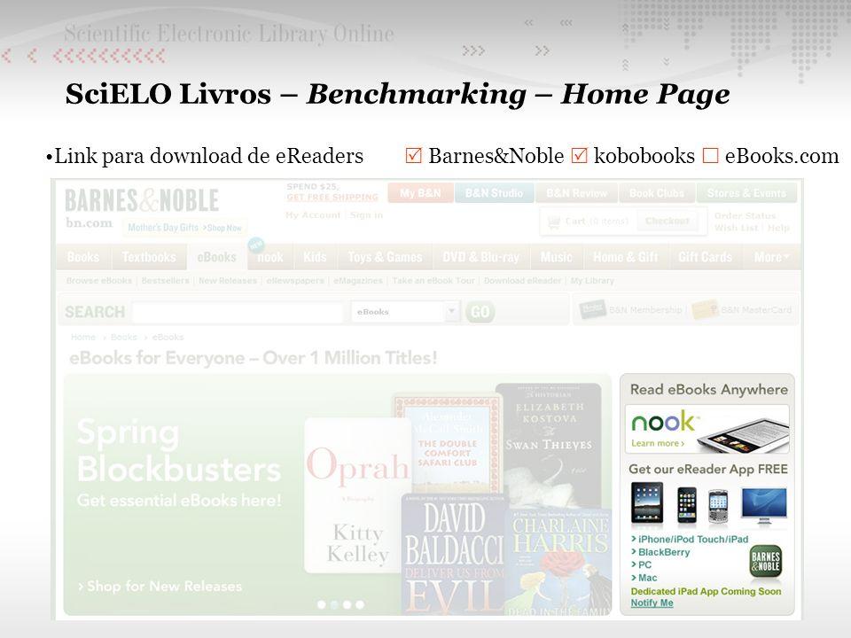 SciELO Livros – Benchmarking – Home Page Link para download de eReaders Barnes&Noble kobobooks eBooks.com
