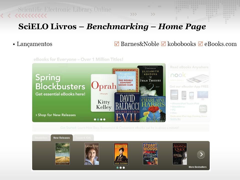 SciELO Livros – Benchmarking – Home Page Lançamentos Barnes&Noble kobobooks eBooks.com