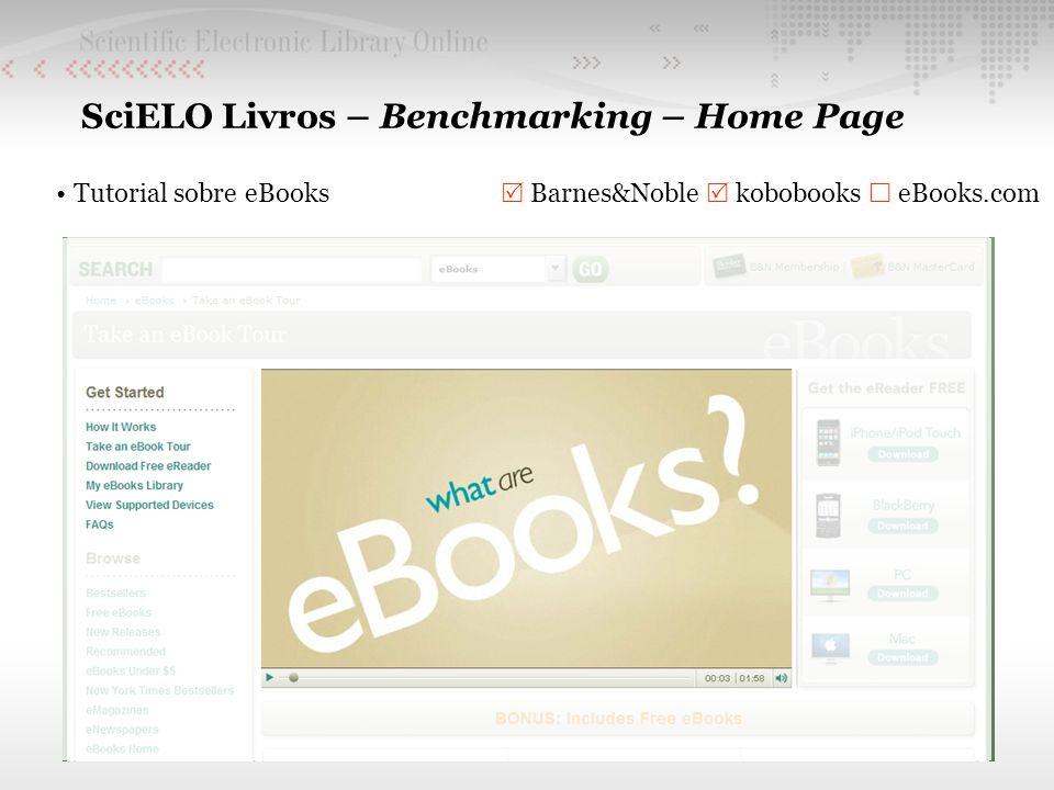 SciELO Livros – Benchmarking – Home Page Tutorial sobre eBooks Barnes&Noble kobobooks eBooks.com