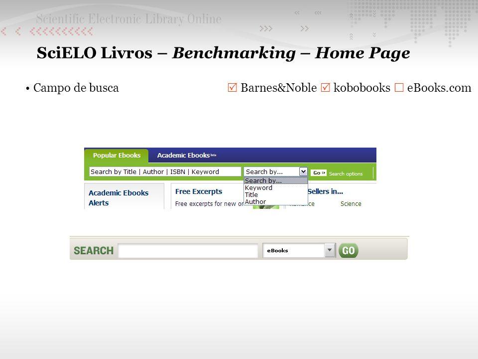 SciELO Livros – Benchmarking – Home Page eBooks em destaque Barnes&Noble kobobooks eBooks.com