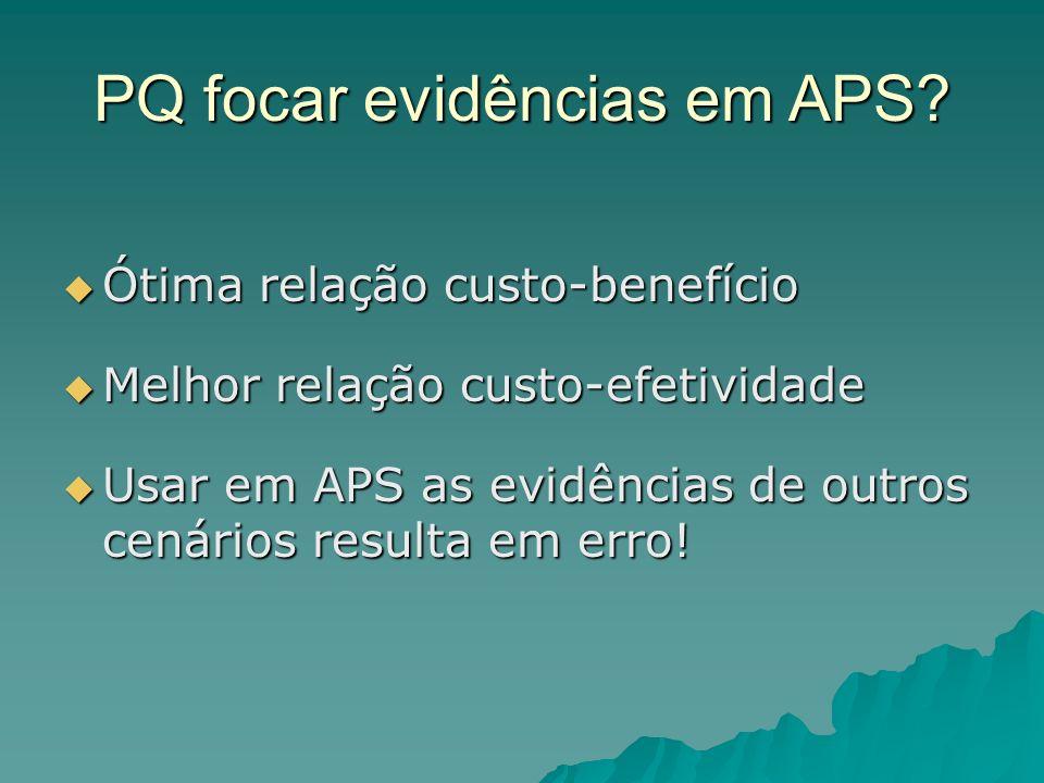 PQ focar evidências em APS.