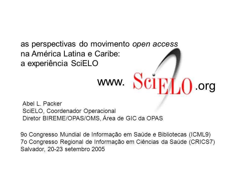 ISI-JCR 28 MEDLINE 65 SciELO 141 LILACS 690 total 1000-1500 A segunda dimensão refere-se à estrutura de indexação disponível para os periódicos dos países em desenvolvimento e que complementa os índices internacionais.