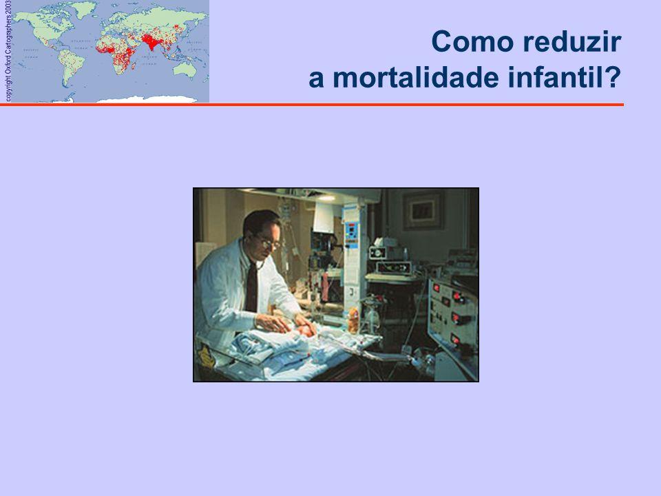 copyright Oxford Cartographers 2003 Como reduzir a mortalidade infantil?