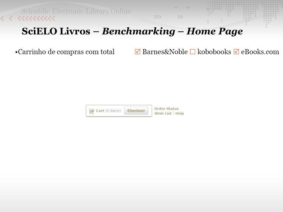 SciELO Livros – Benchmarking – Home Page Carrinho de compras com total Barnes&Noble kobobooks eBooks.com