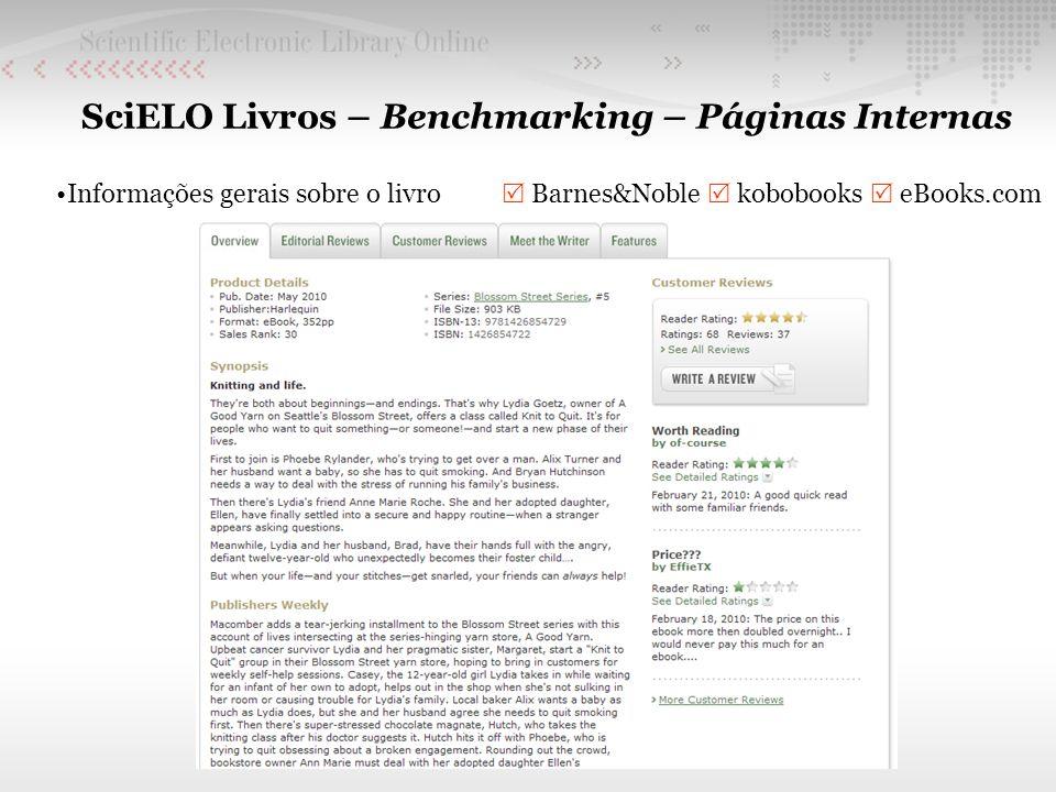 SciELO Livros – Benchmarking – Páginas Internas Informações gerais sobre o livro Barnes&Noble kobobooks eBooks.com