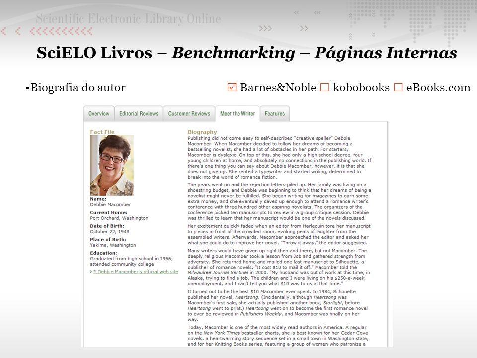 SciELO Livros – Benchmarking – Páginas Internas Biografia do autor Barnes&Noble kobobooks eBooks.com
