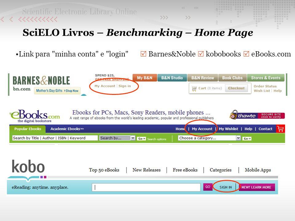 SciELO Livros – Benchmarking – Home Page Link para