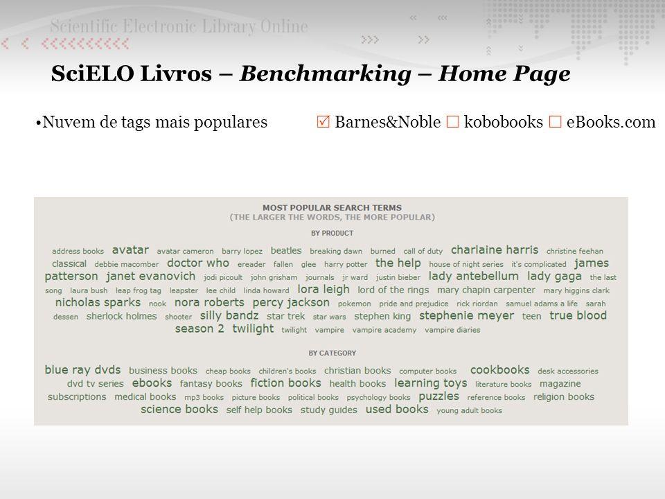 SciELO Livros – Benchmarking – Home Page Nuvem de tags mais populares Barnes&Noble kobobooks eBooks.com