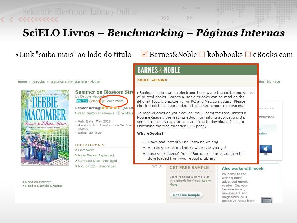 SciELO Livros – Benchmarking – Páginas Internas Link