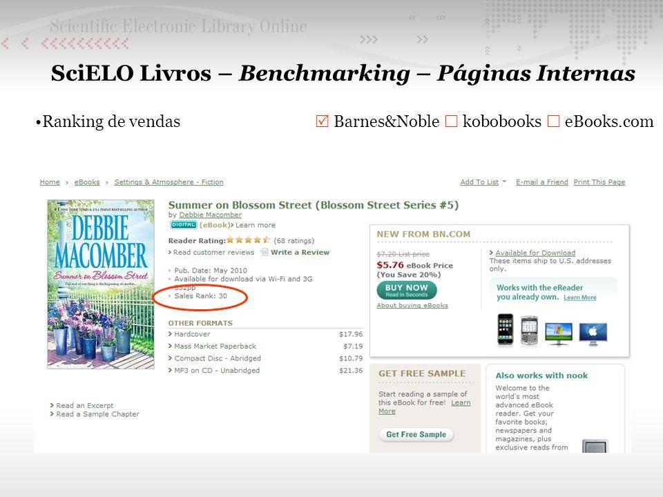 SciELO Livros – Benchmarking – Páginas Internas Ranking de vendas Barnes&Noble kobobooks eBooks.com