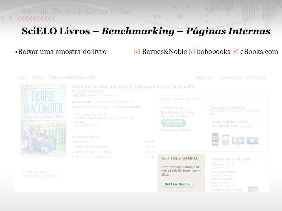 SciELO Livros – Benchmarking – Páginas Internas Baixar uma amostra do livro Barnes&Noble kobobooks eBooks.com