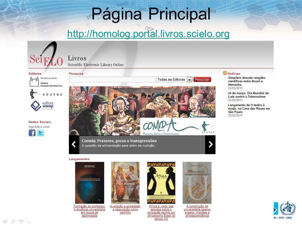 Página Principal http://homolog.portal.livros.scielo.org