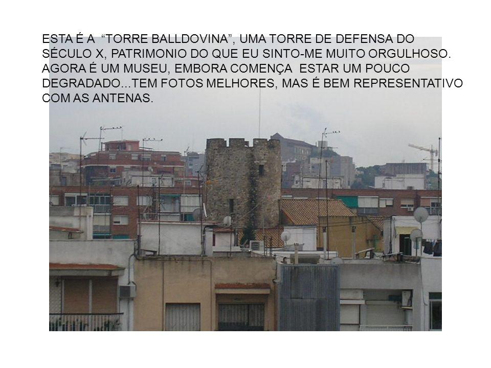 ESTA É A TORRE BALLDOVINA, UMA TORRE DE DEFENSA DO SÉCULO X, PATRIMONIO DO QUE EU SINTO-ME MUITO ORGULHOSO.
