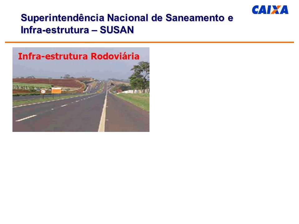 Infra-estrutura Rodoviária Superintendência Nacional de Saneamento e Infra-estrutura – SUSAN