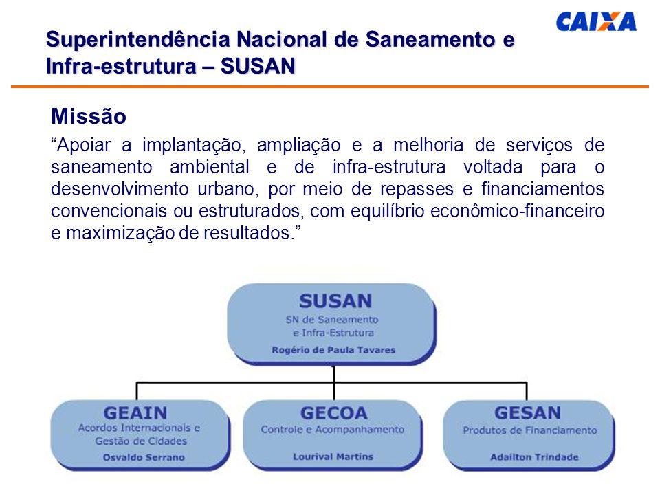 Abastecimento de água Superintendência Nacional de Saneamento e Infra-estrutura – SUSAN