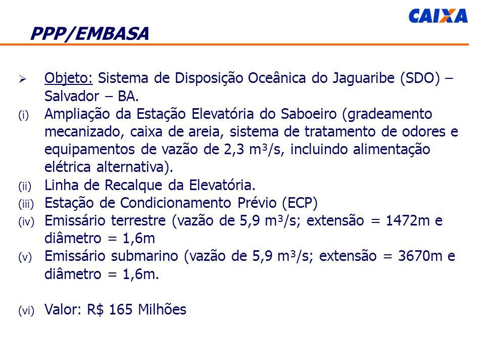 Objeto: Sistema de Disposição Oceânica do Jaguaribe (SDO) – Salvador – BA.