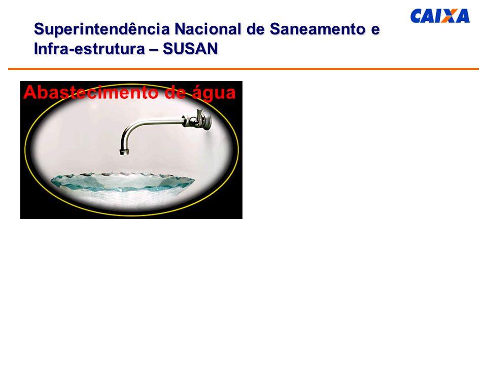 Financiamento: Fontes e Programas Parcerias público-privadas em saneamento Saneamento: déficits de serviços e necessidade de financiamento CAIXA/Superintendência Nacional de Saneamento e Infra-estrutura