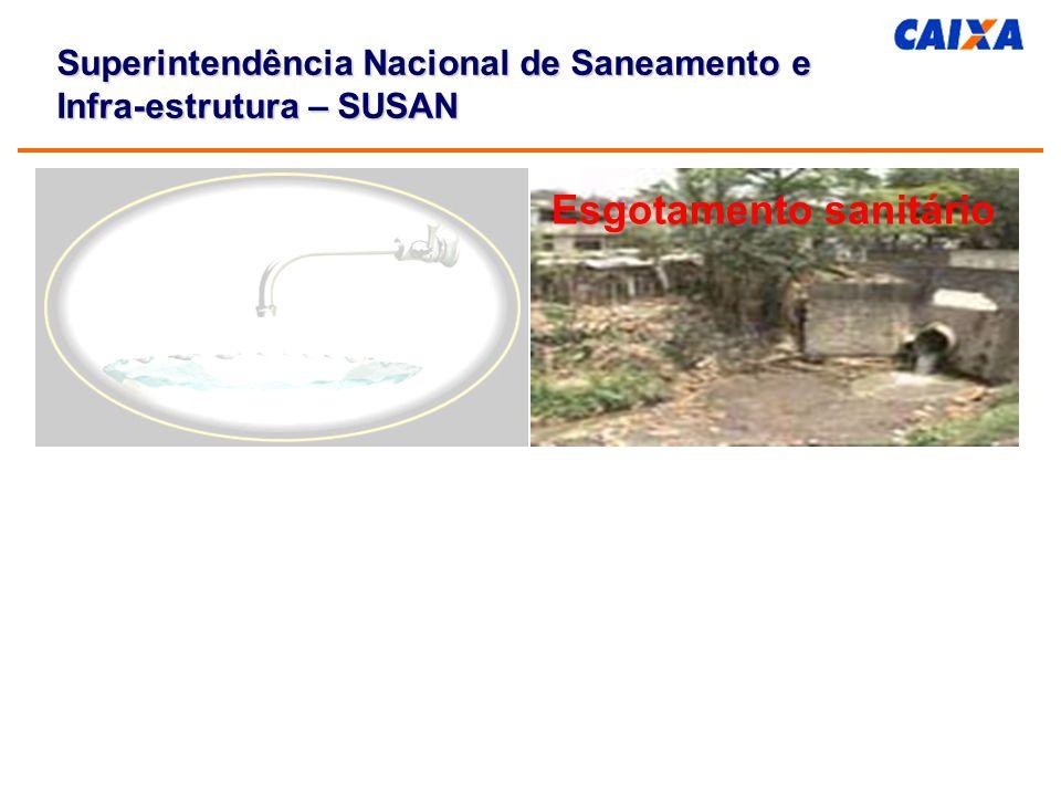 Esgotamento sanitário Superintendência Nacional de Saneamento e Infra-estrutura – SUSAN