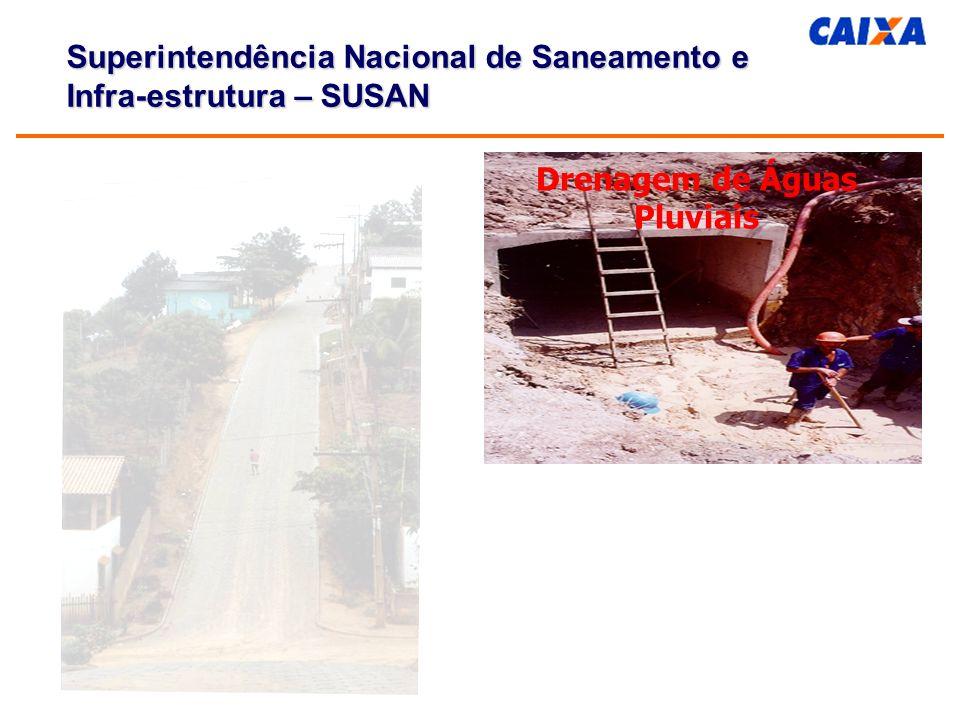 Drenagem de Águas Pluviais Superintendência Nacional de Saneamento e Infra-estrutura – SUSAN