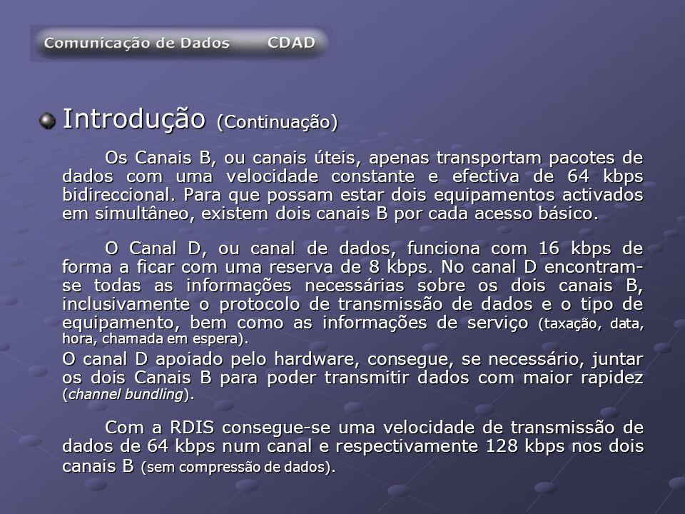 Serviços e Tarifários ONINET RDIS ONINET RDIS Velocidade (128 kbps), utilizando os 2 canais de uma linha RDIS.