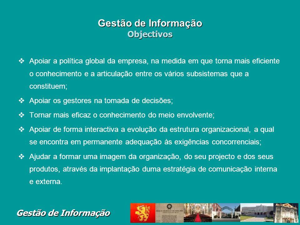 Gestão de Informação Terminologia Gestão de Sistemas de Informa ç ão (GSI) A (...) representa a Gestão do Recurso Informação e de todos os recursos en
