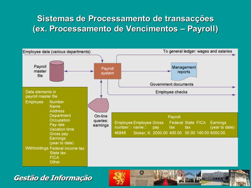 Gestão de Informação Sistemas de Processamento de Transacções Figure 2-4