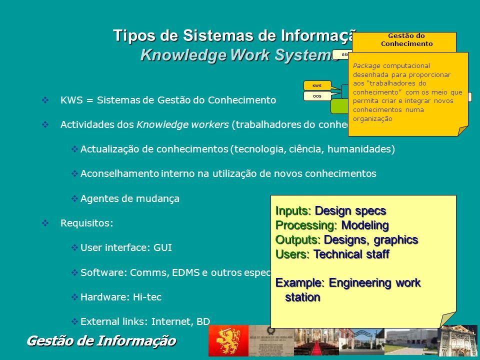 Gestão de Informação Sistemas de Processamento de transacções (ex. Processamento de Vencimentos – Payroll)