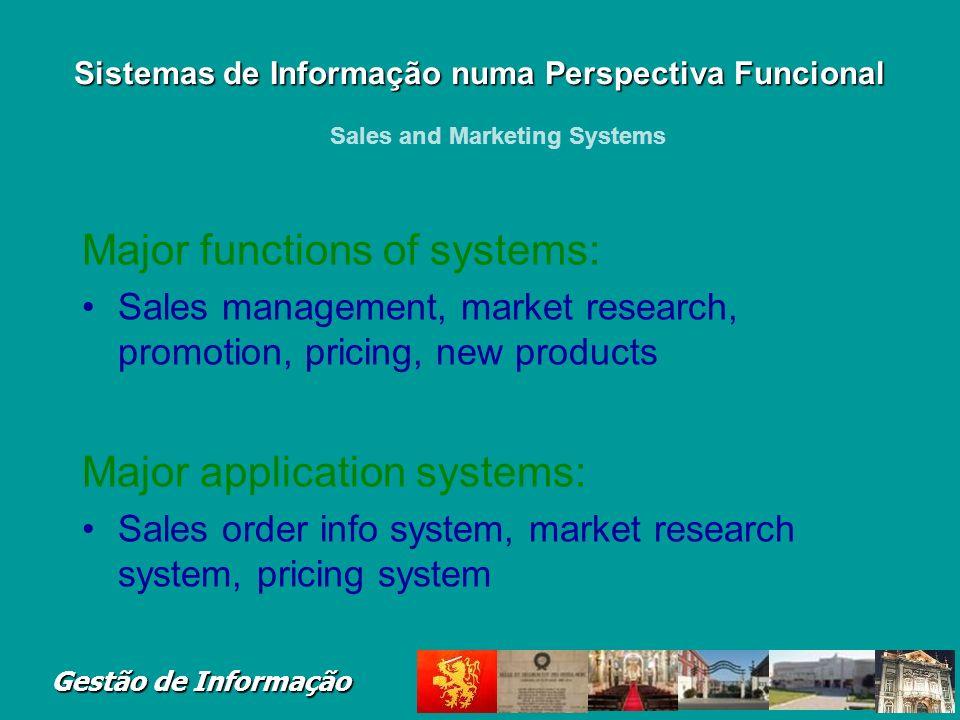 Gestão de Informação Tipos de Sistemas de Informação Executive Support Systems