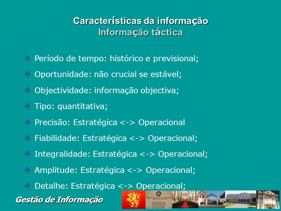 Gestão de Informação Supply chain planning system: Enables firm to generate forecasts for a product and to develop sourcing and a manufacturing plan for the product Supply chain execution system: Manages flow of products through distribution centers and warehouses Integração das Funções e Processos de Negócio Integração das Funções e Processos de Negócio Supply Chain Management (SCM)