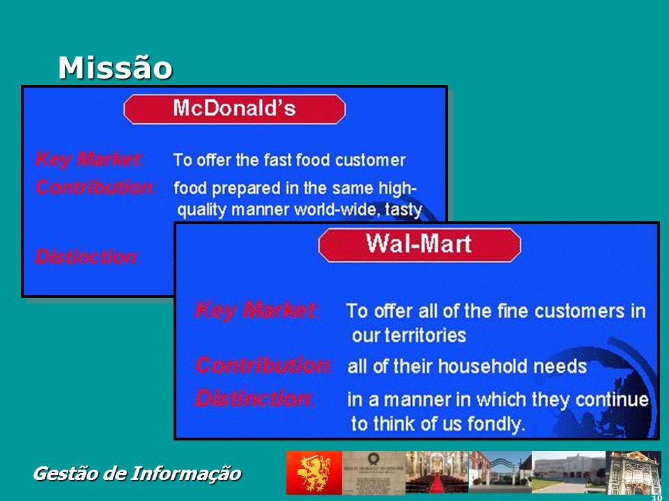 10 Gestão de Informação Missão